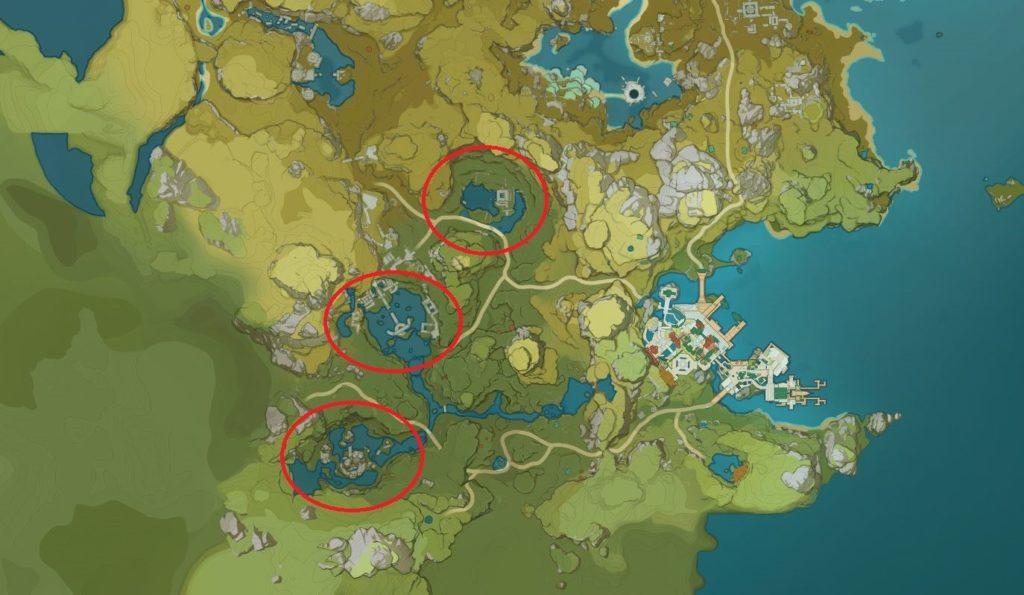 Карта местонахождения Безымянных Сокровищ