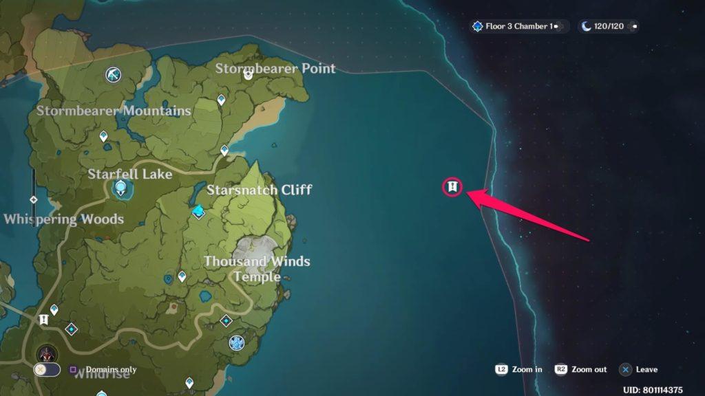 остров не обозначенный на карте в genshin impact