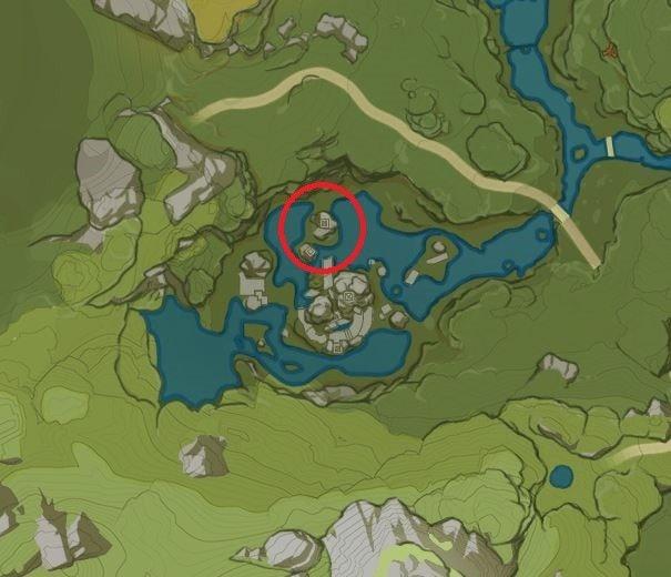 Карта безымянного сокровища на озере Цинсю