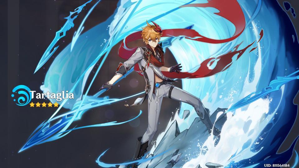 Тарталья - персонаж из Genshin Impact