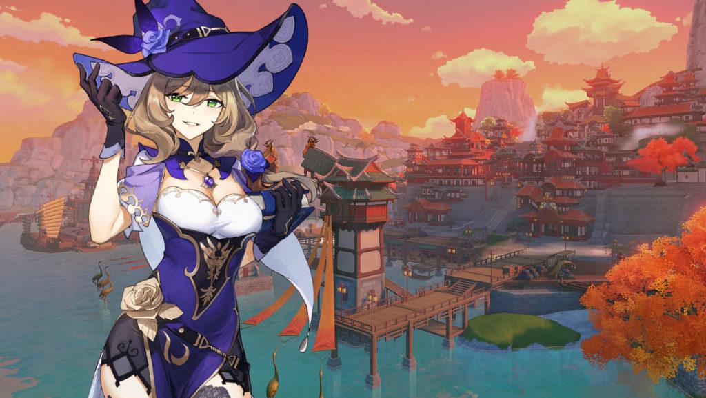 Лиза - персонаж из Genshin Impact
