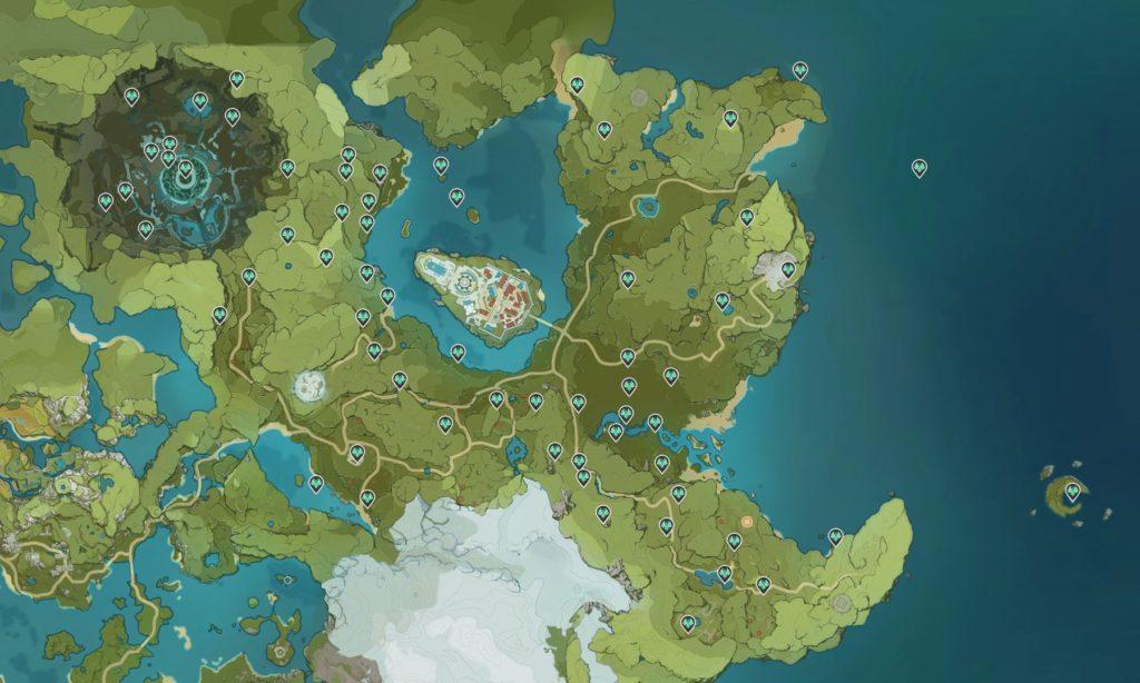 genshin impact карта анемокулов