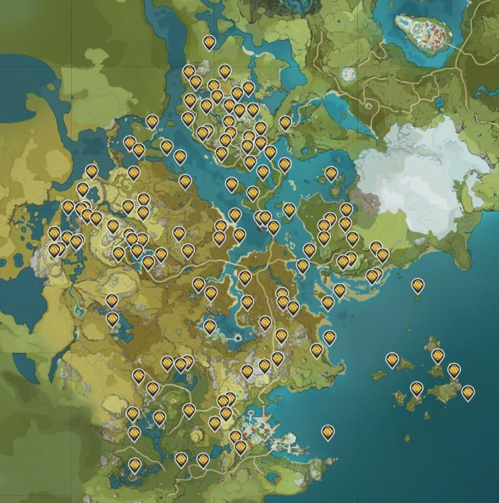геокулы genshin impact интерактивная карта