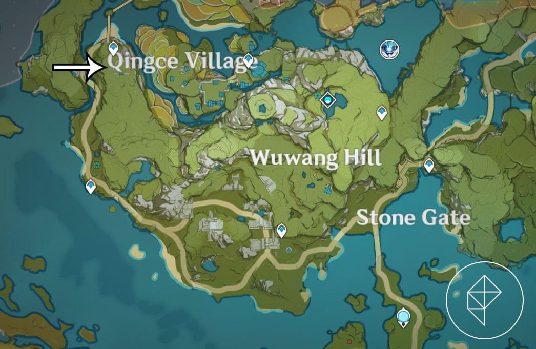 Карта, показывающая, где найти второе сокровище