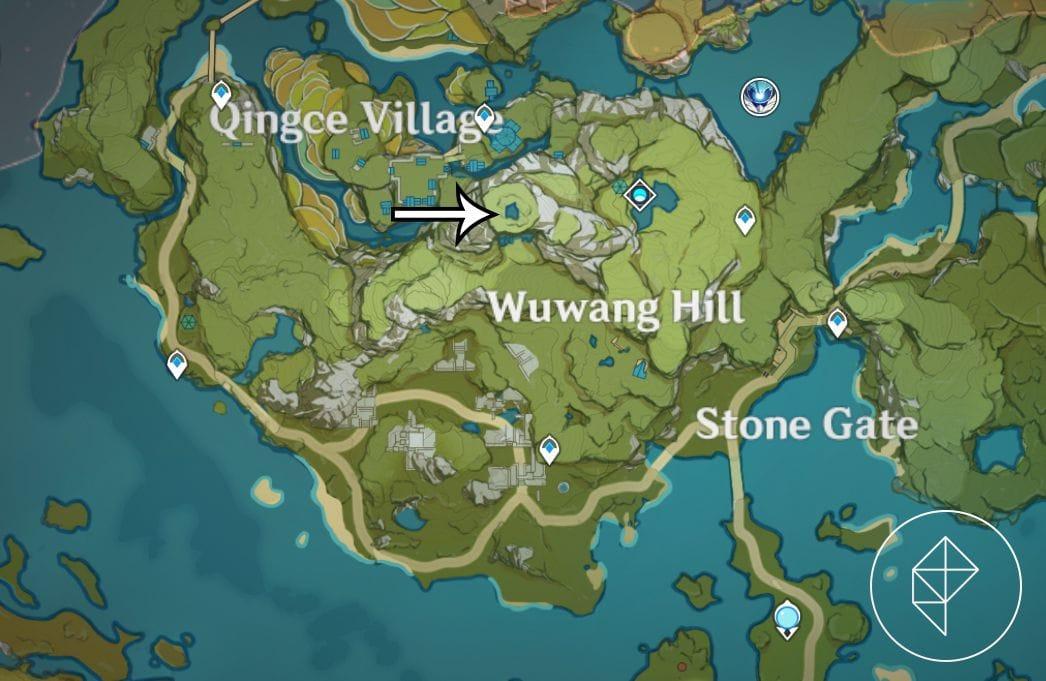 Карта, показывающая, где завершить последнюю загадку Секрета Чи