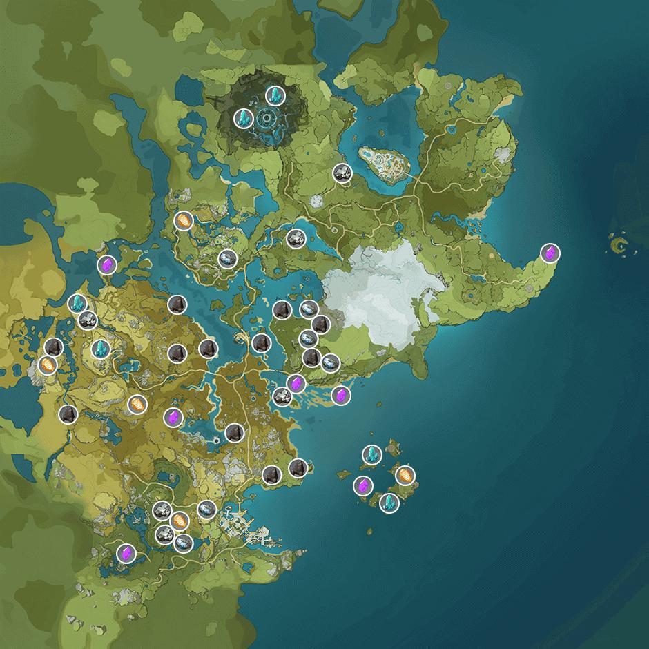 Карта руды в Genshin Impact