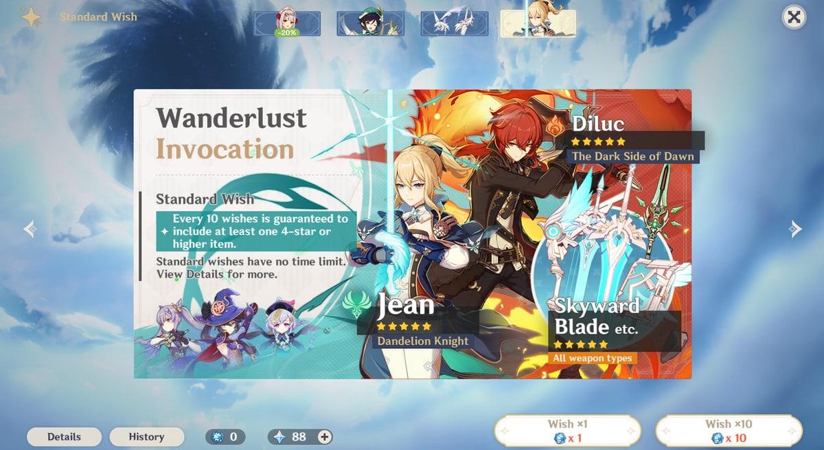 Wanderlust Invocation Banner Genshin Impact
