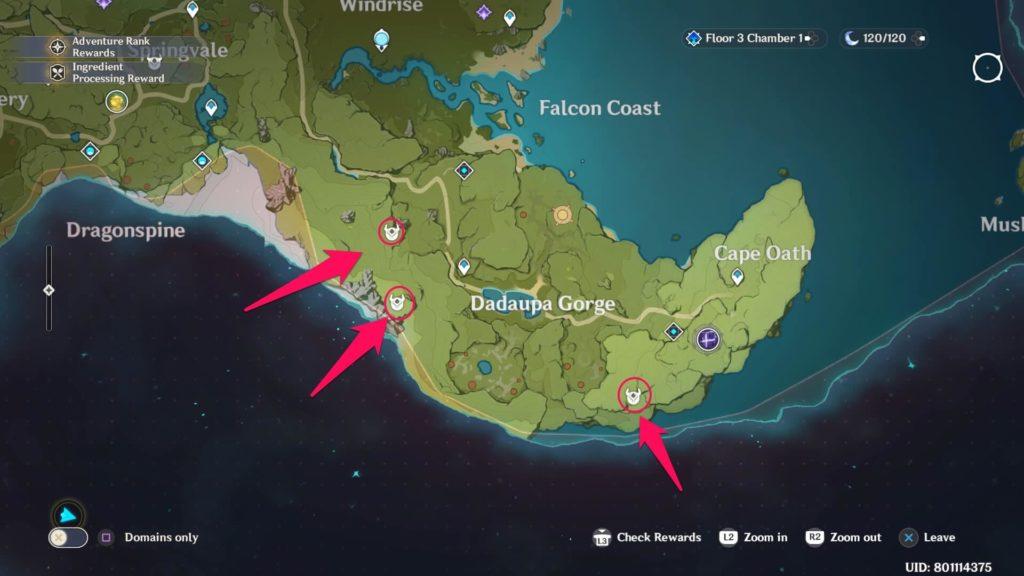 карта застрельщиков в ущелье Дадаупа