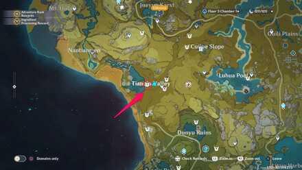 местоположение застрельщиков в долине тяньцю в genshin impact