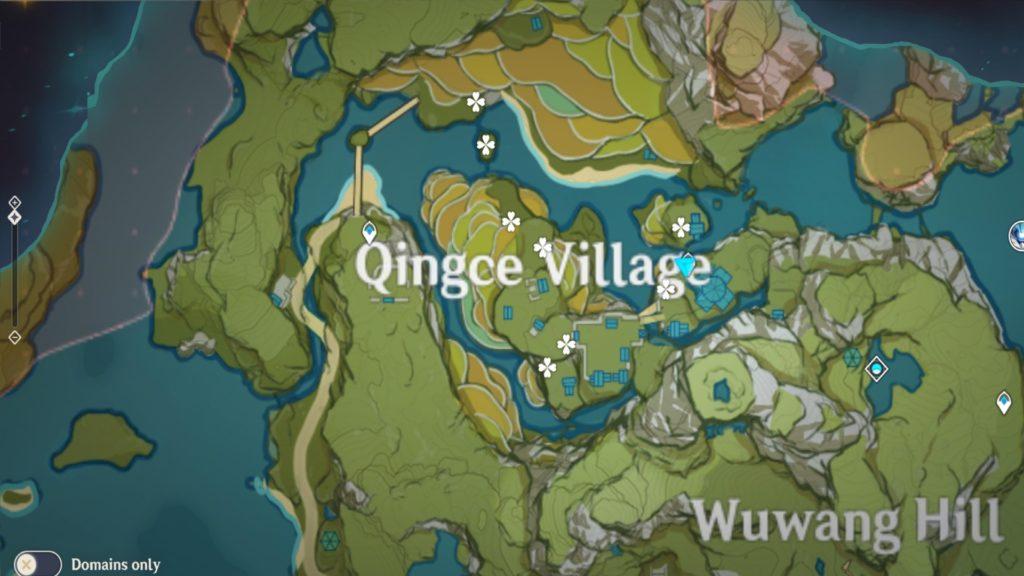 карта заоблачных перчиков в деревне Цинцэ