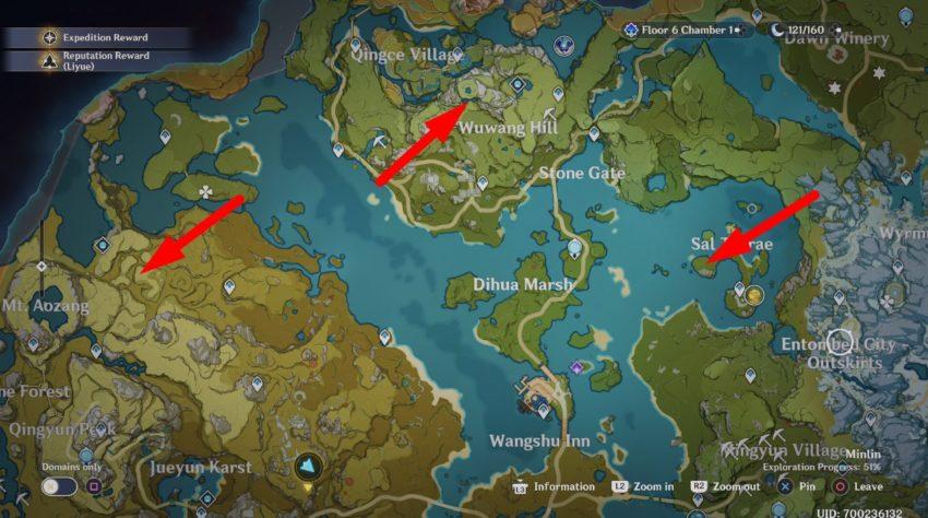 карта сокровищ калейдофонаря genshin impact