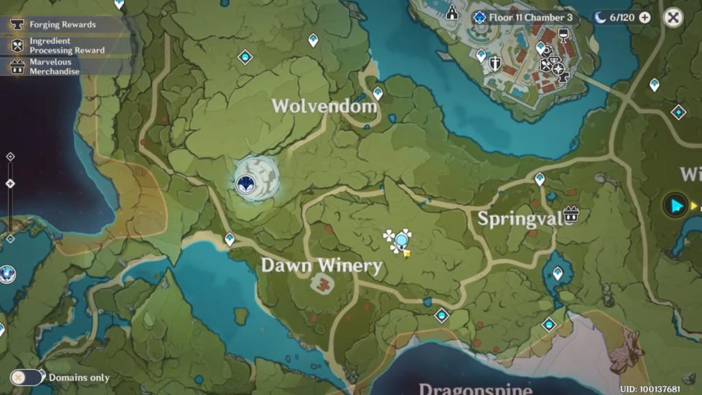 карта местоположения ветряных астр у винокурни рассвет