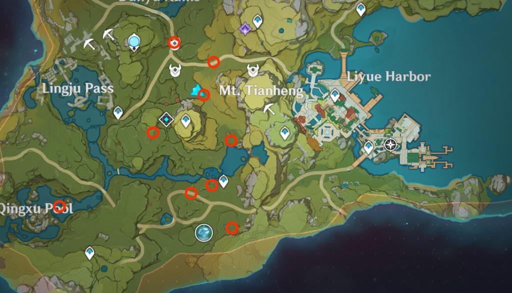 карта похитителей сокровищ genshin impact