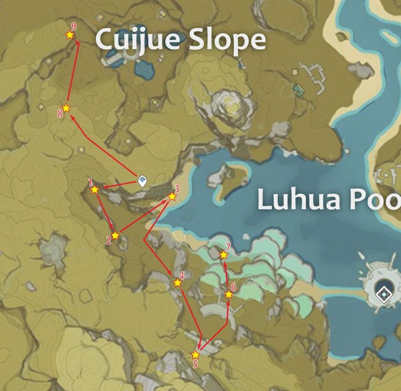 маршрут фарма кор ляписа у озера лухуа