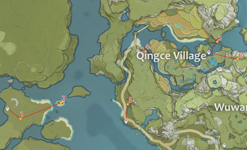 маршрут фарма кор ляписа в деревне цинцэ
