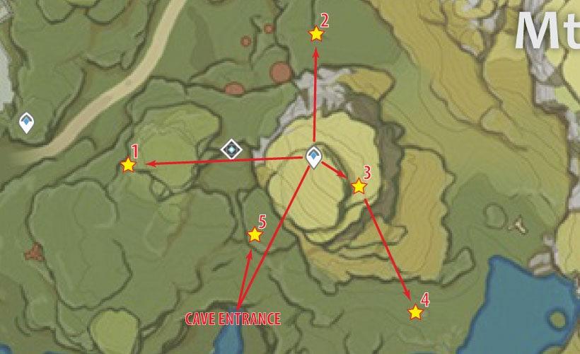 маршрут для фарма кор ляписа возле горы тяньхэн