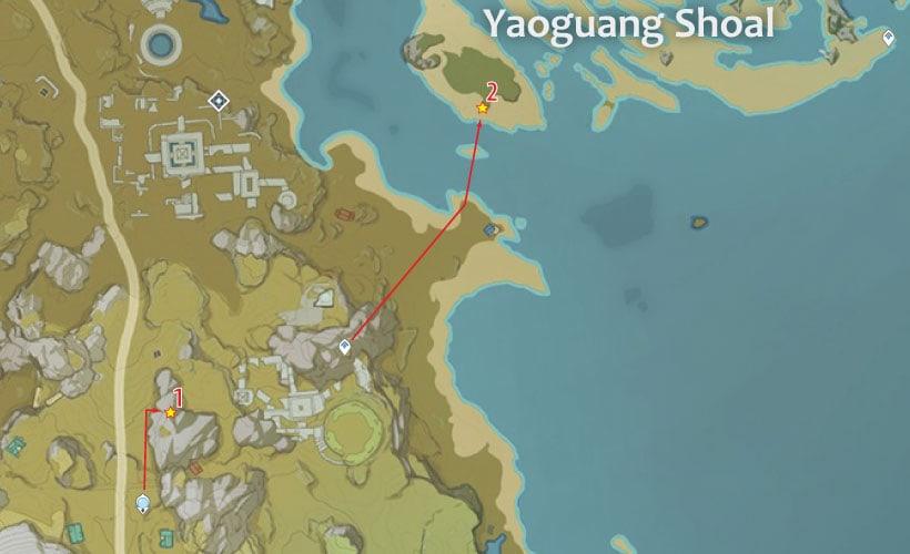 маршрут для фарма кор ляписа в долине гуйли