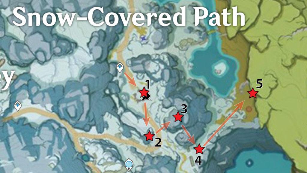 маршрут сбора багрового агата genshin impact