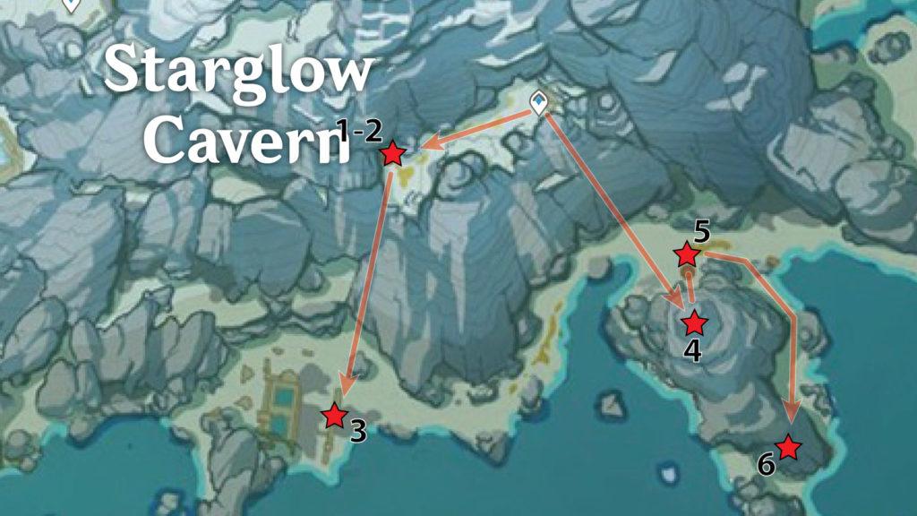 местонахождение багрового агата genshin impact