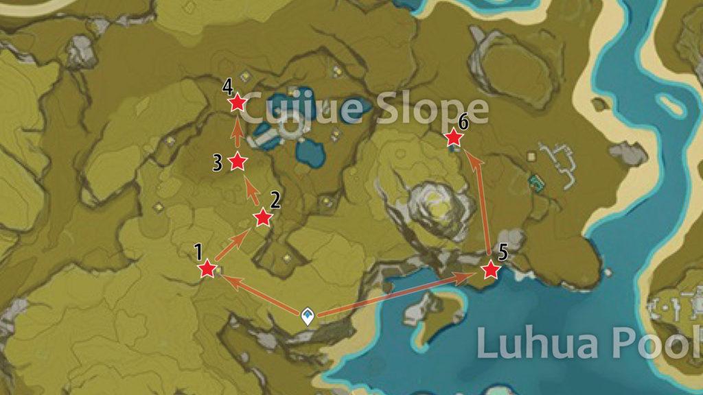 маршрут фарма обломков кристалла на склоне зимородка genshin impact