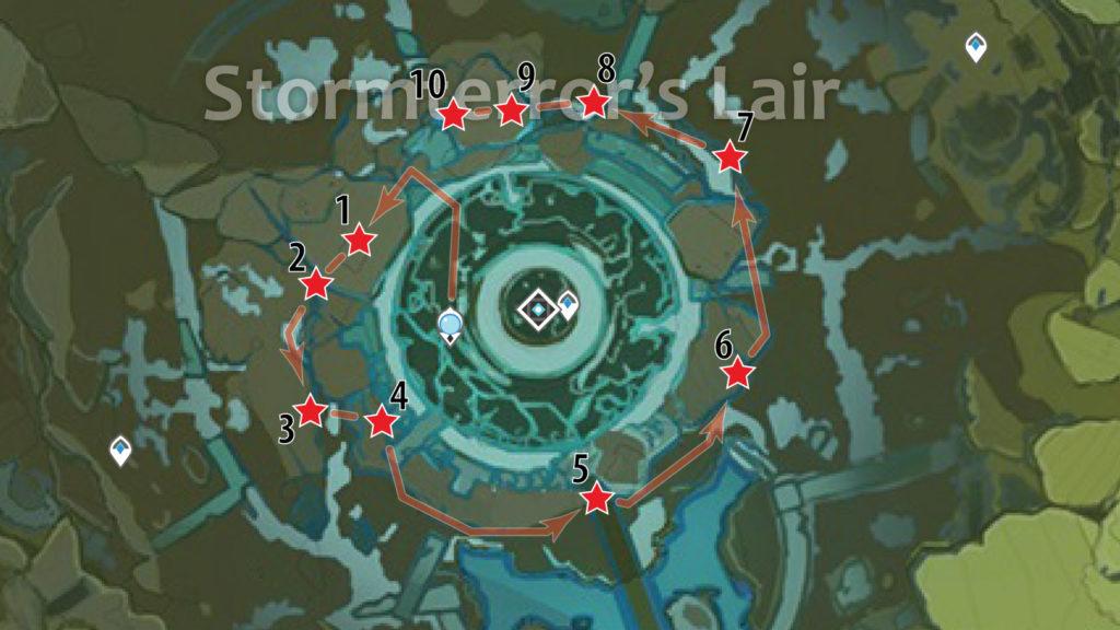 маршрут фарма обломков кристалла в логове ужаса бури genshin impact