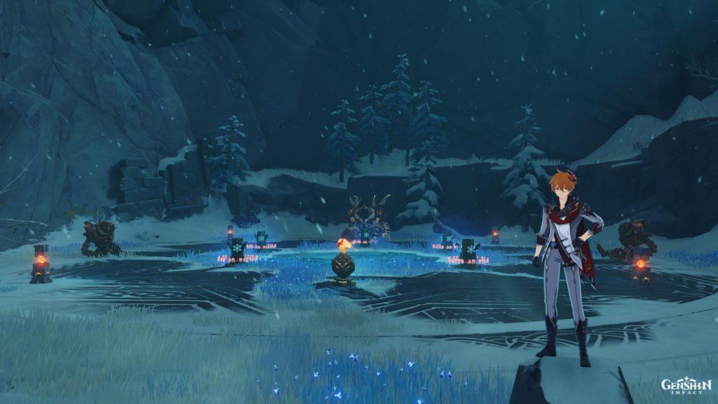 решение головоломки на снежной горе genshin impact