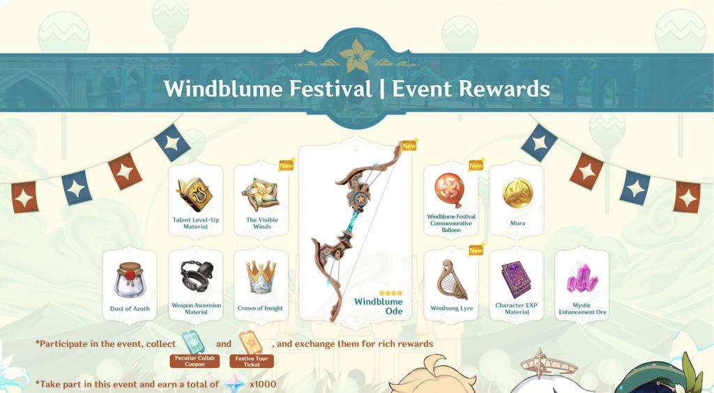 Награды за событие Приглашение ветряных цветов