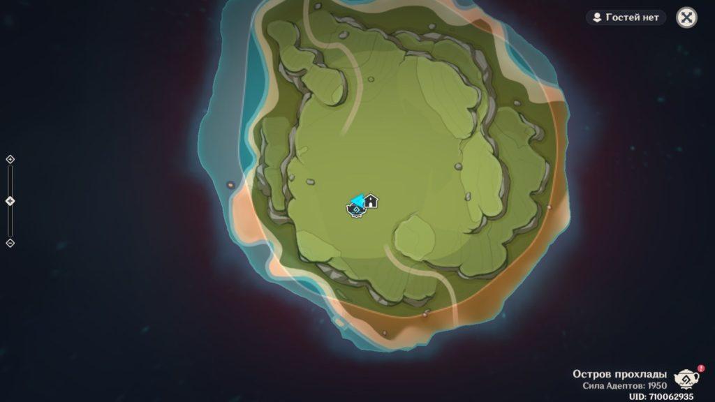 Карта Чайника безмятежности genshin impact