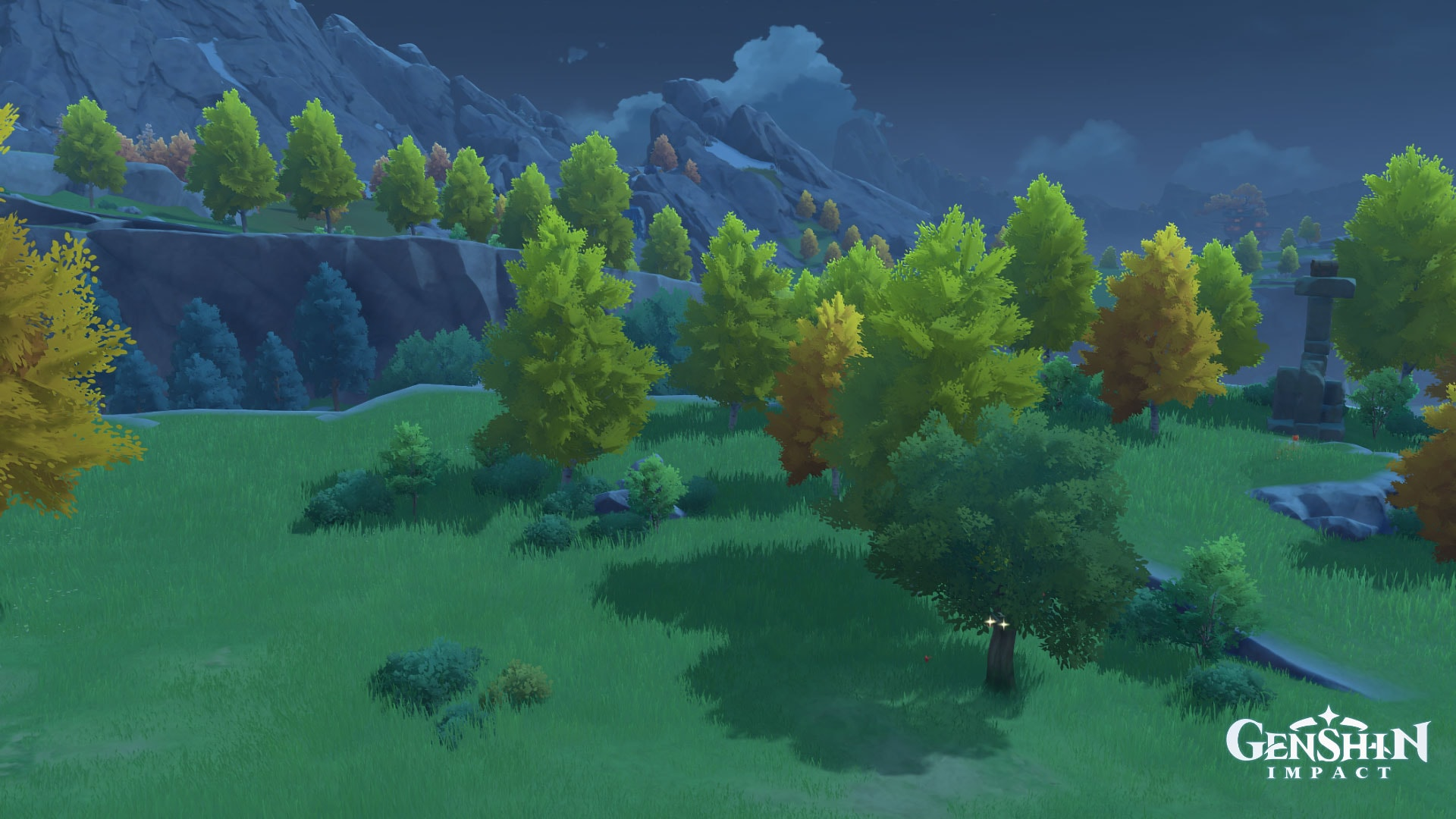 деревья в genshin impact
