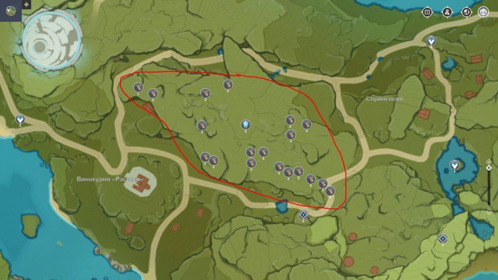 где найти берёзу в genshin impact