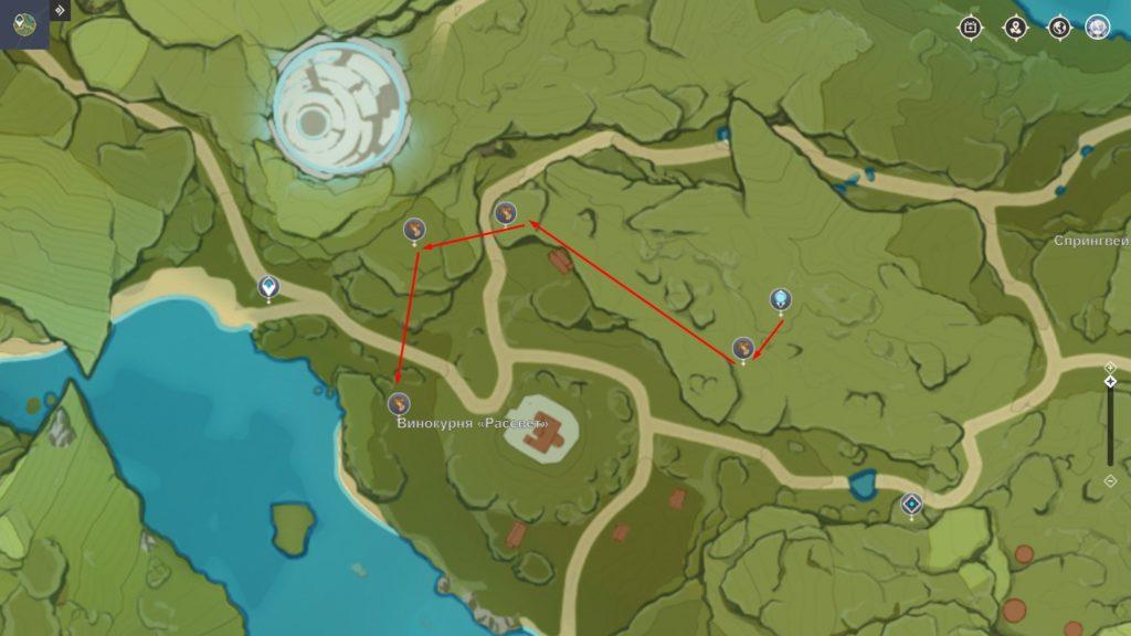 где найти дерево Цуйхуа genshin impact