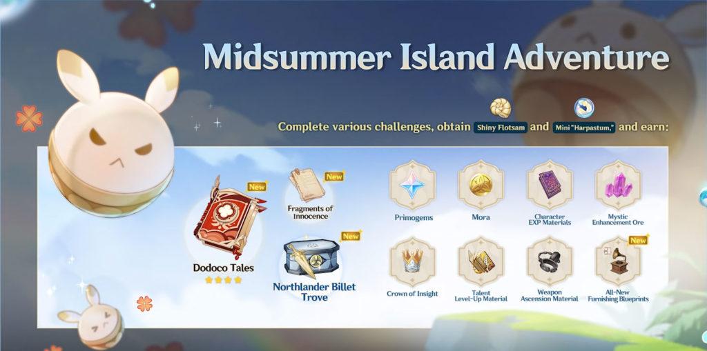 Событие «Лето! Остров? Приключение!» genshin impact