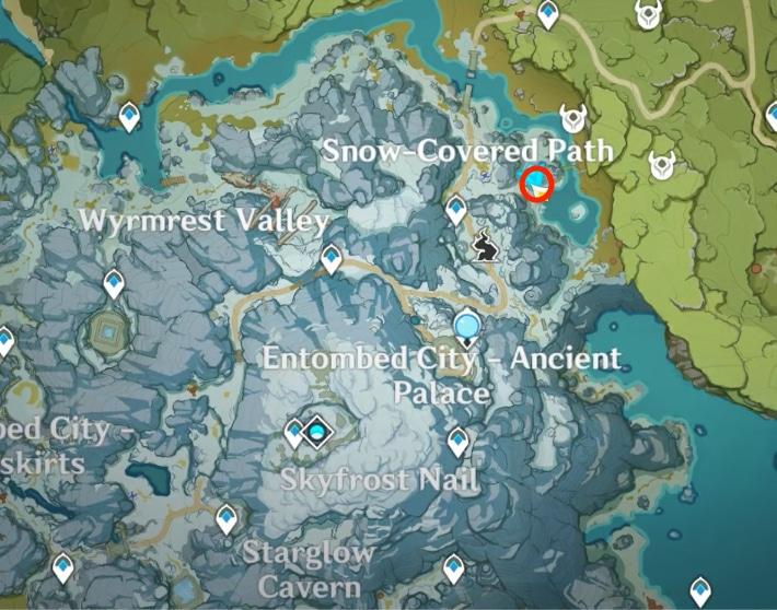 карта местонахождения первой древней надписи в genshin impact