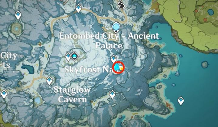 Карта расположения пятой древней надписи genshin impact