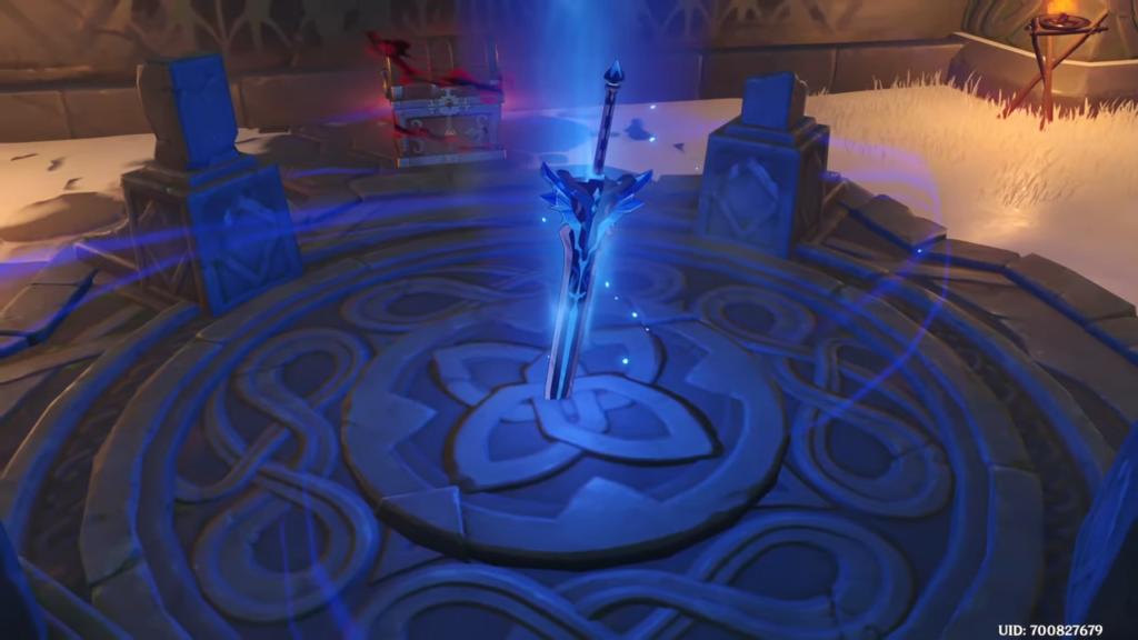 как получить меч заснеженное звёздное серебро
