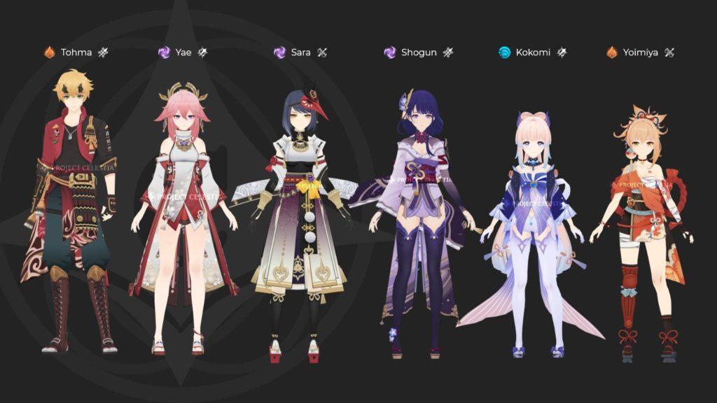 Будущие персонажи genshin impact