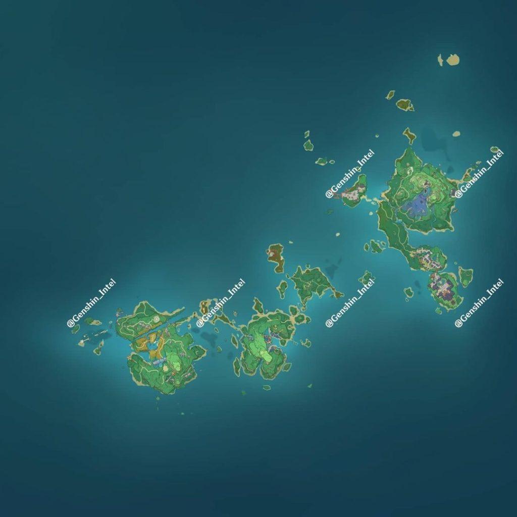 Карта Инадзумы