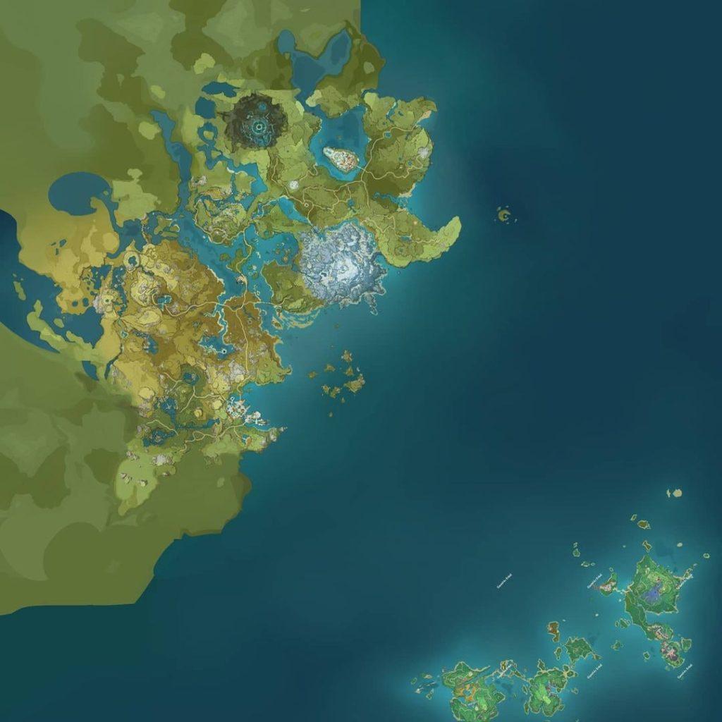 Карта genshin impact с Инадзумой