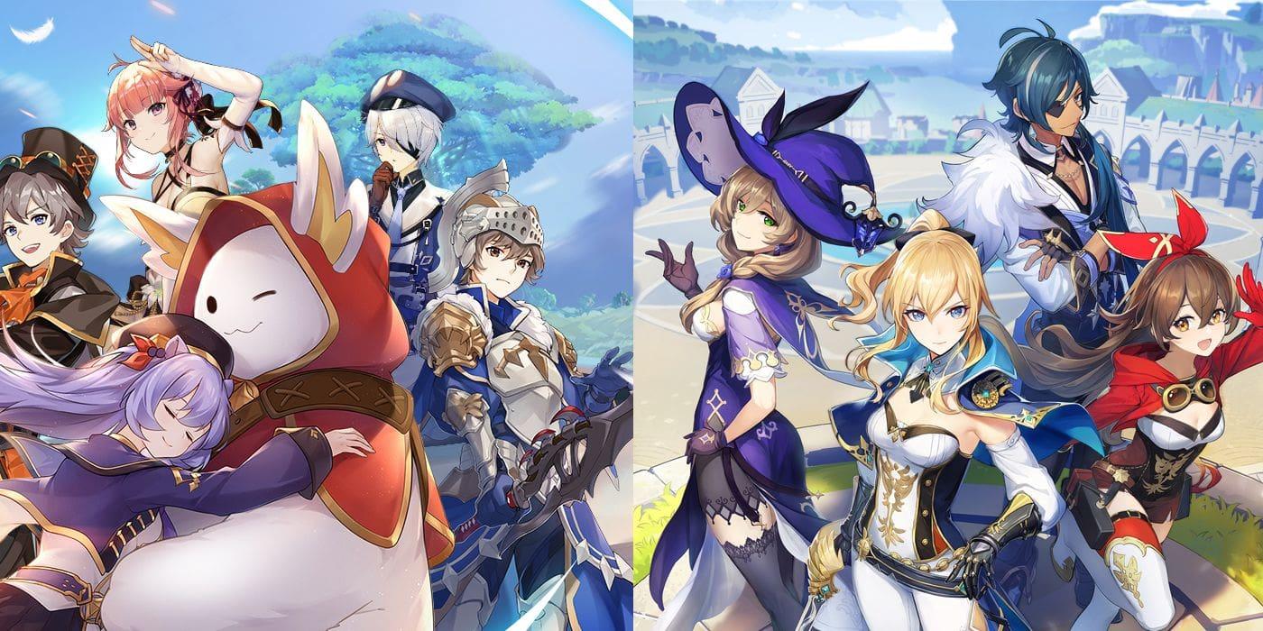 сравнение The Legend of Neverland и Genshin Impact