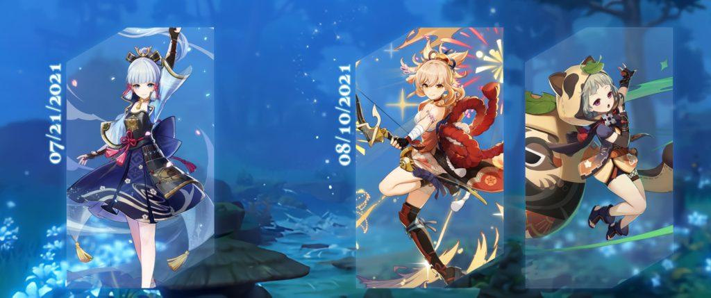 Расписание баннеров Genshin Impact 2.0