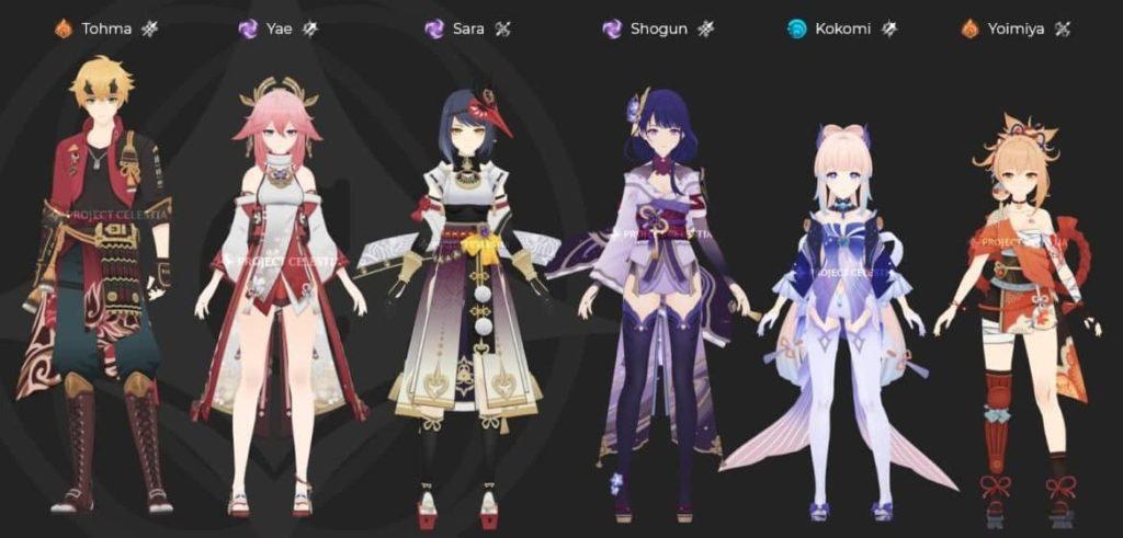 Персонажи обновления Genshin Impact 2.0