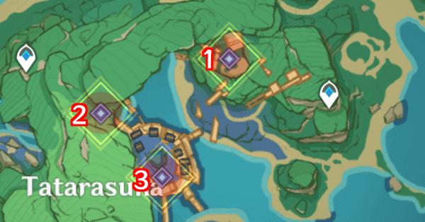 расположение маяков в genshin impact