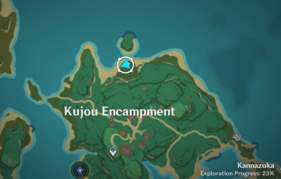 Карта расположения Громовых сакур - Пятая сакура