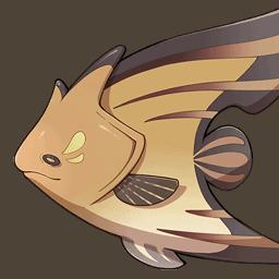 Бурая рыба-бабочка genshin impact