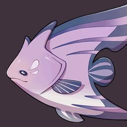 Пурпурная рыба-бабочка genshin impact