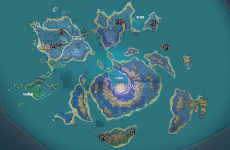 Расположение железной руды на острове Сэйрай