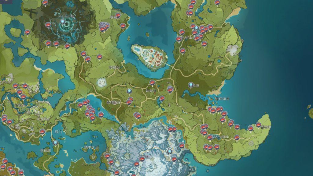 карта мяса в мондштадте