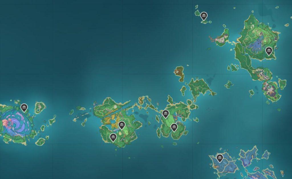 Где найти Усыпальницы глубин Инадзумы