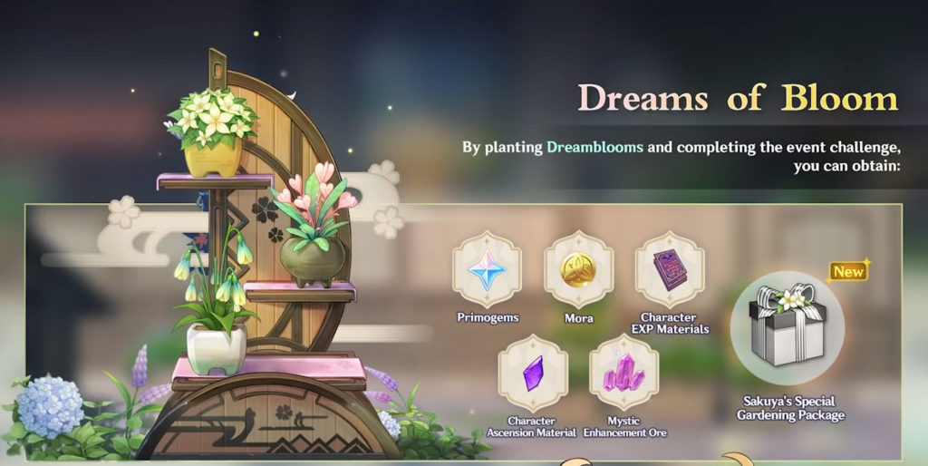 событие Цветущие мечты в обновлении 2.2 genshin impact